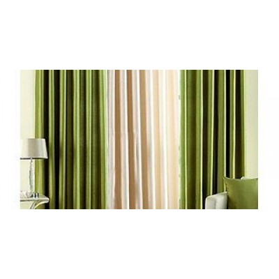 Green and plane Curtain 9 Feet Set Of 32 green 1 cream 9 feet