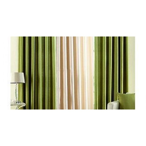 Green and plane Curtain 9 Feet Set Of 32...