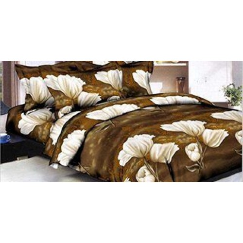 Stylish 3D Print Double Bed Bedsheet with Pillow Covers